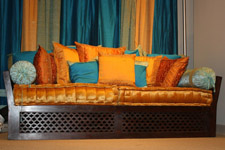 carved Indian style sofa