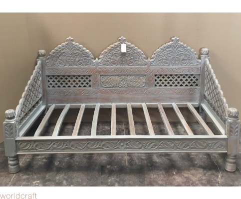 """Carved Jhula Arch Sofa 80"""", inner size 72x36"""""""