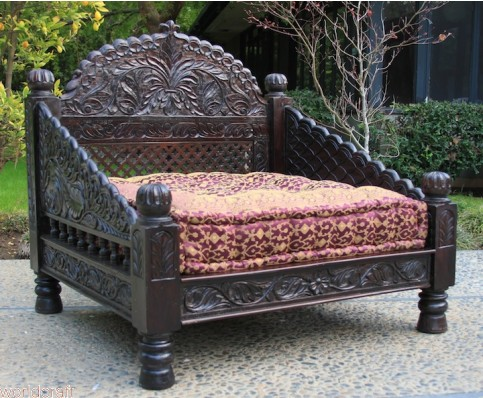 Carved Jhula Arch Loveseat
