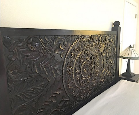 Carved Mandala Headboard