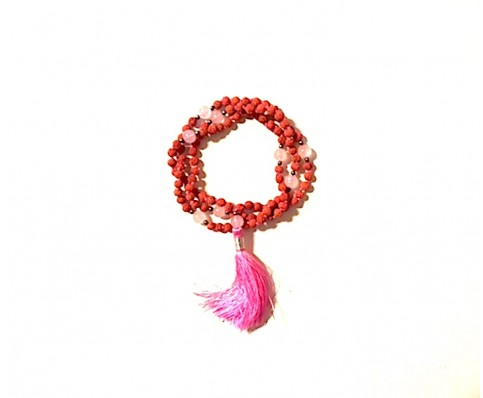 Rudhruksh and Rose Quartz Mala
