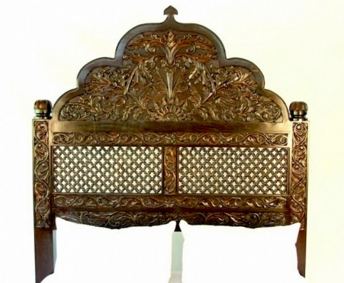 Carved Lattice Headboard