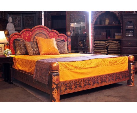 Tibetan Painted Mandala Bed-Cal King