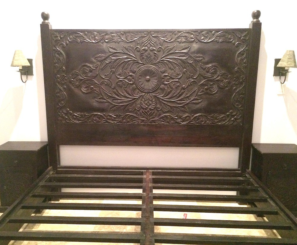 Scroll Frame Bed Hand Crafted In Northern Rajasthan
