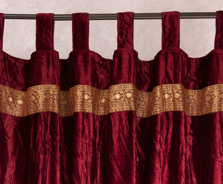 Velvet Embroidered Curtain Panel Worldcraft Industries
