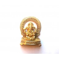 Brass Ganesh on Throne