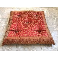 Indian Sari Floor Cushions, 24x24""