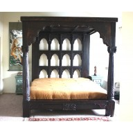 Devi Antique Pillar Den Bed-On Order