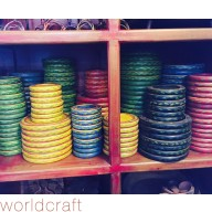 Painted Candle Plates