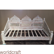"""Carved Jhula Arch Sofa, 66"""", Inner Size 30x60"""""""