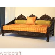 Tufted Velvet Mattress with Embroidered Trim