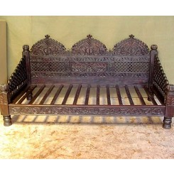 "Carved Jhula Arch Sofa, 66"", Inner Size 30x60"""
