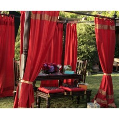 Embroidered Trim Curtains