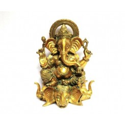 Triple Elephant Ganesh, 21""