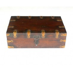 Rosewood Brass Box