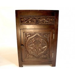 Carved Rosewood Nightstand
