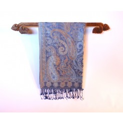 Silk Pashmina Shawls, Blues