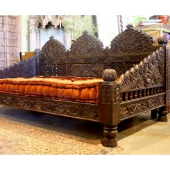 Hand Carved Jhula Day Bed