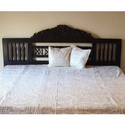 Indian Mirrorwork Bedspread, Cream