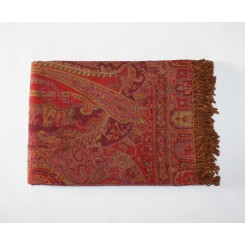 Pashmina Wool Throw, Red
