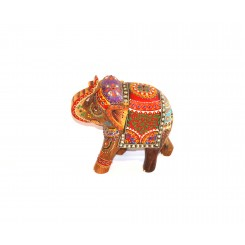 Intricately Painted Elephant