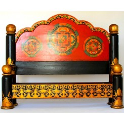 Tibetan Painted Mandala Bed
