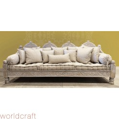 Carved Jhula Arch Triple Sofa, 104""