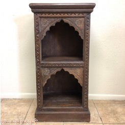Carved Arch Nightstand Cabinets