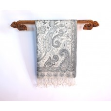 Silk Pashmina Shawls, Silver and Gold