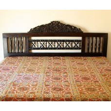 Indian Mirrorwork Bedspread, Multi