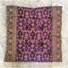 Embroidered Sari Seat Cushions, 16x16""
