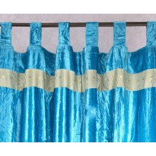 Velvet Embroidered Curtain Panel