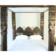 Jhula Pillar Canopy Bed. Made to Order