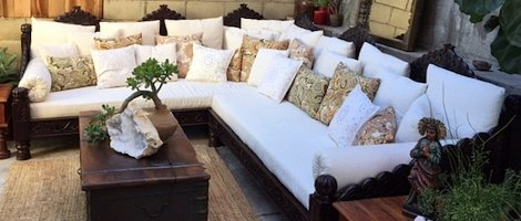 indian Style Seating Sofas and Pillows