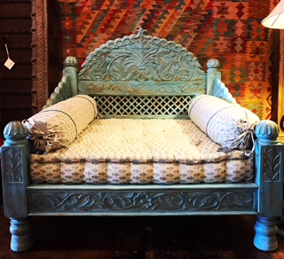 Blue Jhula Loveseat