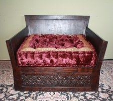 Diamond Carved Sofa Single