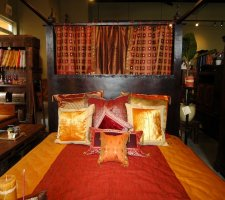Ishi Bed & Sari Pillows